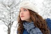 Hezká žena portrét venkovní — Stock fotografie