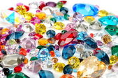 Gems isolated on white background — Stock Photo