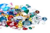 Gems isolated on white background — Stock Photo