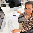 Angry woman at the office — Stock Photo #9033361