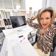 Angry woman at the office — Stock Photo