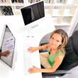 Beautiful young woman at the office - Foto Stock