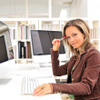 Beautiful young woman at the office — Stock Photo #9033448