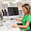 Young woman at the office — Stock Photo #9033477