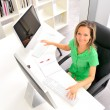 Young woman at the office — Stock Photo