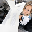 Stock Photo: Pretty woman at the office