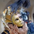 Colorful artistic masks on the Carnival of Venice - Stock Photo