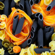 Colorful uncooked pasta — Stock Photo
