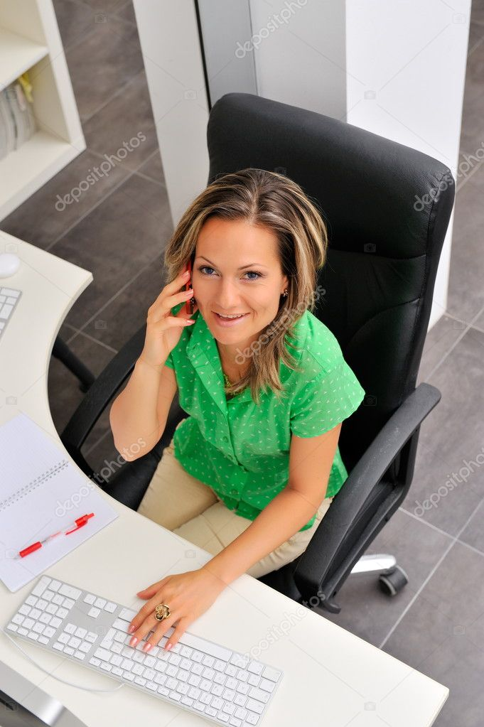 Beautiful young woman at the office  Stockfoto #9033299