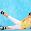 Young woman exercising — Stock Photo