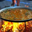 Paella - spanish traditional food — Stock Photo