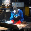 Stock Photo: Welder in action