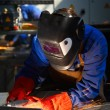 Welder in action — 图库照片