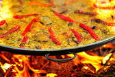 Paella - spanish traditional food — Stock Photo