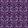 Seamless Purple Floral Damask Brocade — Stock Photo
