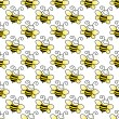 Seamless Bumblebee Background Wallpaper — Stock Photo #8891103