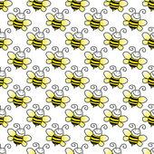 Seamless Bumblebee Background Wallpaper — Stock Photo