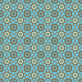 Seamless Aqua & Brown Medallions Background Wallpaper — Foto Stock