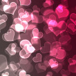 Pink & White Bokeh Hearts Background Wallpaper — Stock Photo
