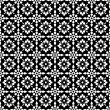 Seamless White & Black Floral Background Wallpaper — 图库照片 #9002989