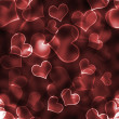 Bokeh Hearts Background Wallpaper — 图库照片