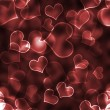 Bokeh Hearts Background Wallpaper — Stockfoto