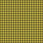 Smidig svart, gul, & vit rutig pläd bakgrundsbild — Stockfoto