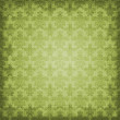 Shaded Green Damask Background Wallpaper — Stock Photo