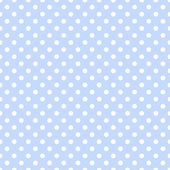 White Polka Dots on Pale Blue — Stock Photo
