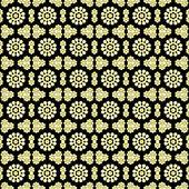 Black, White, & Yellow Floral — Stock Photo