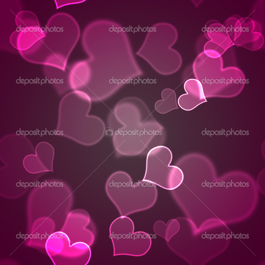 Seamless Pink Hearts Background Wallpaper — Stock Photo ...