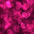 Hot Pink Heart Background Wallpaper - Stock Photo