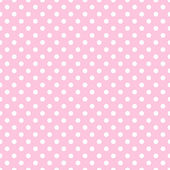 White Polka Dots on Pale Pink — Stock Photo