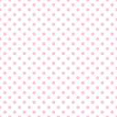 Pale Pink Polka Dots on White — Stock Photo