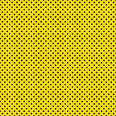 Seamless Black Dots on Yellow — Stock Photo