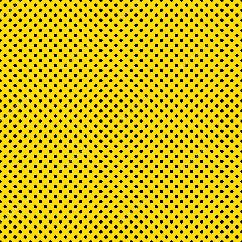 Pontos Pretos Sem Costura Amarelo Fotografias De Stock