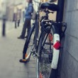 Old classic bicycle — Foto Stock #10568793