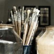 Painting brushes — Stock Photo