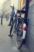 Old classic bicycle — Stock Photo