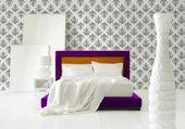 Modern yatak odası iç — Stok fotoğraf