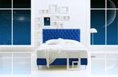 Slaapkamer in het heelal — Stockfoto