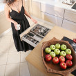 Stock Photo: Womin kitchen