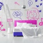 Kid's minimal bedroom — Stock Photo #9145886