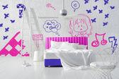 Kid's minimal bedroom — Stock Photo