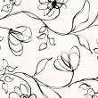 Modern floral wallpaper — Stock Photo