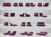 Minimale aufklappbares sofa — Stockfoto