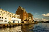 Shipyard in Kolobrzeg — Stock Photo