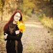 Stock Photo: Woman autumn portrait