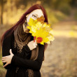 Woman autumn portrait — Stock Photo #8902954