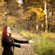 Woman autumn portrait — Stock Photo